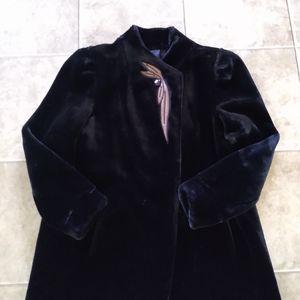 Vintage size large faux fur coat